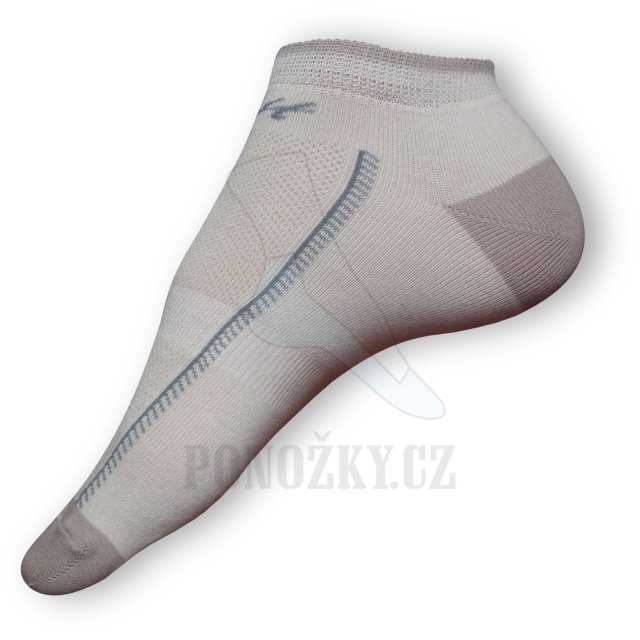 Kotníkové ponožky béžové