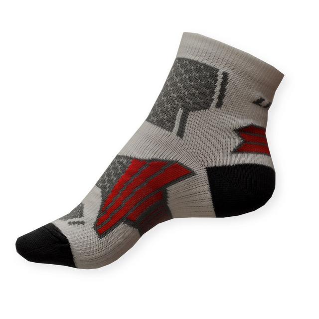 Dámské sportovní ponožky Litex se stříbrem bílo-šedé