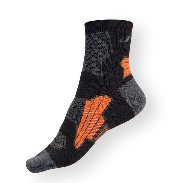 Funkční sportovní ponožky Litex černo-šedé