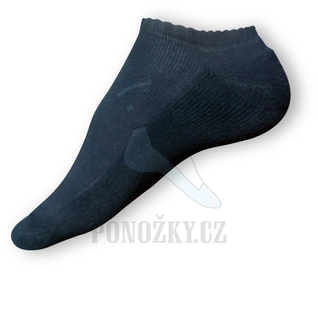 Nízké ponožky černé
