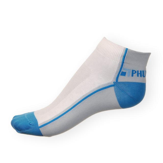 Kotníkové ponožky Phuseckle Summerline modro-bílé půlené