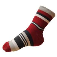 Dětské elastické ponožky červené pruhované