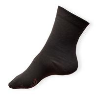 Tmavě šedé tenké ponožky pro diabetiky s otoky nohou Agiva AT 08