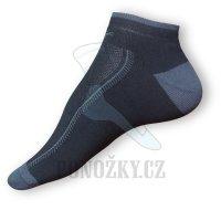 Kotníkové ponožky černé-šedé