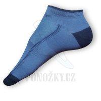 Kotníkové ponožky modré - VÝPRODEJ