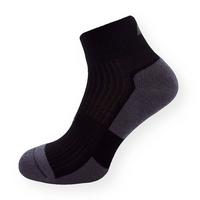 Bambusové froté kotníkové ponožky černo-šedé