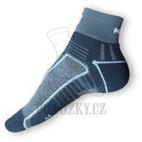 Cyklistické ponožky Moira PO/CK černé-šedé