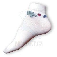 Dámské ponožky s kytkami
