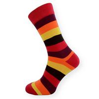Dámské ponožky s barevnými pruhy