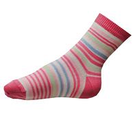Ponožky pro dívky růžové pruhované
