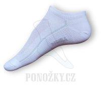 Kotníčkové ponožky Moira bílé PO/SHB