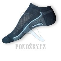 Kotníčkové ponožky Moira černé PO/SHB