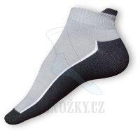 Kotníčkové ponožky šedé-černé