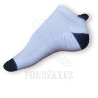 Kotníkové ponožky bílé-černé
