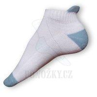 Kotníkové ponožky bílé-modré