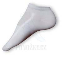Kotníkové ponožky bílé