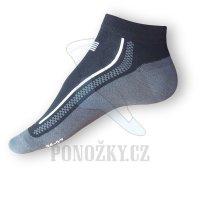 Kotníkové ponožky Litex černé-šedé