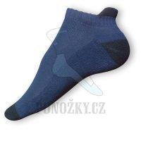 Kotníkové ponožky modré-černé