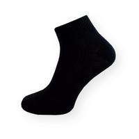 Tenké černé kotníkové ponožky