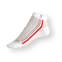 Kotníčkové ponožky Litex bílé s antibakteriálním stříbrem