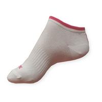 Dámské nízké sportovní ponožky Litex bílé-růžové