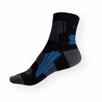 Funkční sportovní ponožky Litex černo-šedé-modré