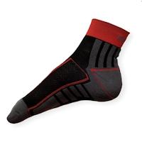 Cyklistické ponožky Moira PO/CK šedo-červené