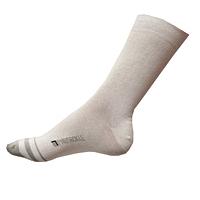Pánské ponožky Phuseckle Classicline bílé-šedá špička