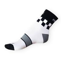 Ponožky Phuseckle Sportline bílé-kostky