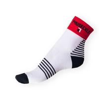 Ponožky Phuseckle Sportline bílé-proužky