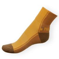 Ponožky Phuseckle Streetline béžovo-žluté půlené