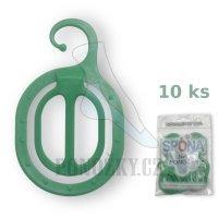 Ponožkové spony Anop zelené