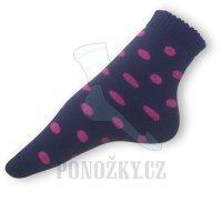 Ponožky na spaní černé-vínové