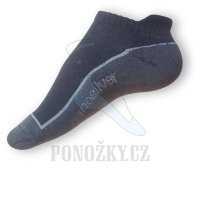Nanosilver kotníkové froté ponožky černé