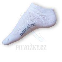 Ponožky Nanosilver krátké bílé