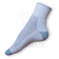 Ponožky na běh bílé-modré
