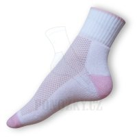 Ponožky na běh bílé-růžové
