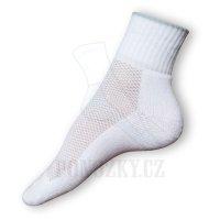 Ponožky na běh bílé