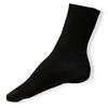 Černé žebrované ponožky 100% bavlna - zobrazit detail zboží
