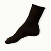 Ponožky ze 100% bavlny tmavě hnědé žebrované