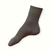 Ponožky ze 100% bavlny světle šedé žebrované