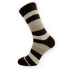 Dámské pruhované ponožky hnědé