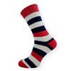Dámské ponožky s modrými pruhy