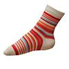 Ponožky pro dívky červené pruhované - zobrazit detail zboží