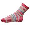 Ponožky pro dívky růžové pruhované - zobrazit detail zboží