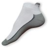 Kotníčkové ponožky bílo-šedé s jazýčkem nad patou - zobrazit detail zboží