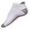 Kotníkové ponožky bílé-šedé