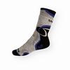 Thermo ponožky Litex tmavě šedé s modrou