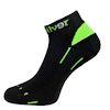 Nanosilver nízké černé sportovní ponožky se stříbrem