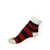 Ponožky Phuseckle Classicline červeno-černé pruhy - zobrazit detail zboží